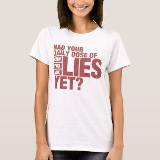Camiseta Dose diária das mentiras (meios dos E.U.)