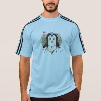 Camiseta Doutor do pinguim com coração Zuq99 da flor