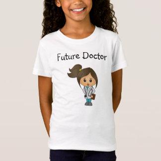 Camiseta Doutor futuro - doutor bonito Fêmea - Brunette