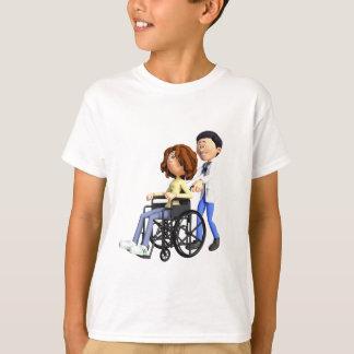 Camiseta Doutor Wheeling Paciente Cadeira de rodas dos