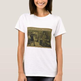 Camiseta Dr. Jekyll e poster teatral 1880 do Sr. Hyde