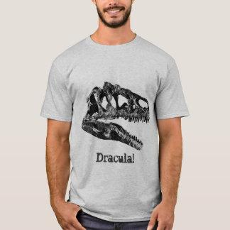 Camiseta Dracula! Crânio do dinossauro do Allosaurus