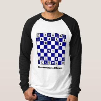 Camiseta Dragão acelerado abertura da xadrez