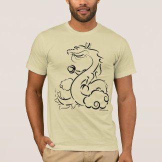 Camiseta Dragão chinês com pérola