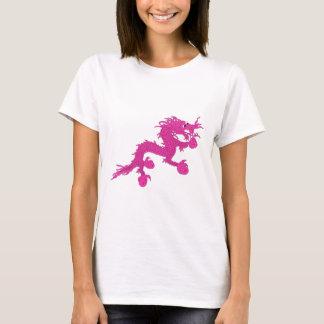 Camiseta dragão cor-de-rosa