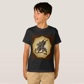 Camiseta Dragão curto do menino das capas do t-shirt