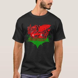 Camiseta Dragão de Galês com o t-shirt de Knotwork do