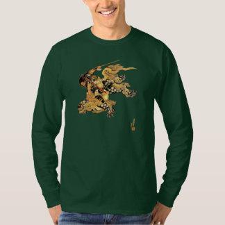 Camiseta Dragão do leopardo de neve da equitação do