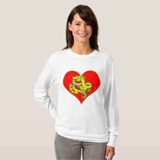 Camiseta Dragão e coração