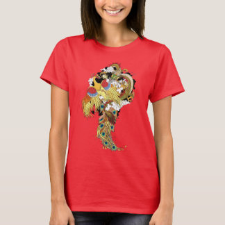 Camiseta Dragão e phoenix chineses