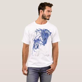 Camiseta Dragão e unicórnio no azul