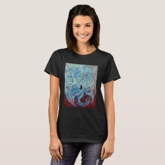 Camiseta Dragão e unicórnio Yin Yang