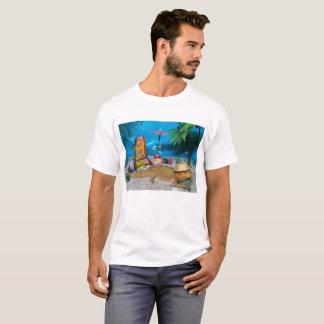 Camiseta Dragão farpado no t-shirt dos homens da praia