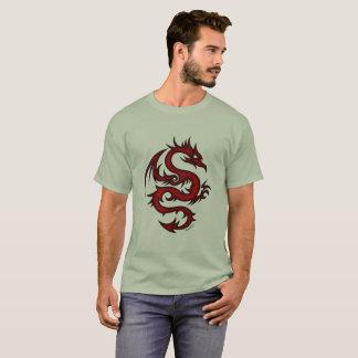 Camiseta Dragão impetuoso no esplendor carmesim!