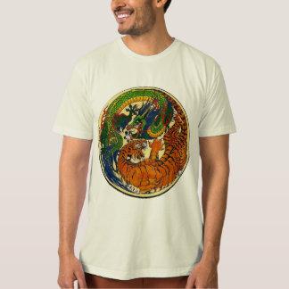 Camiseta Dragão/tigre Yin Yang