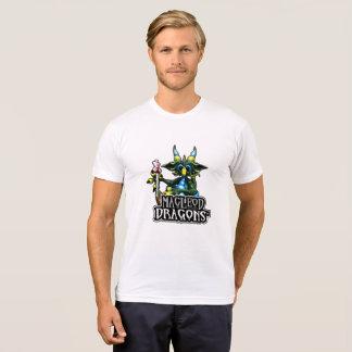 Camiseta Dragão verde do tesouro da DM poli/mistura T do