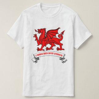 Camiseta Dragão vermelho de Galês com slogan
