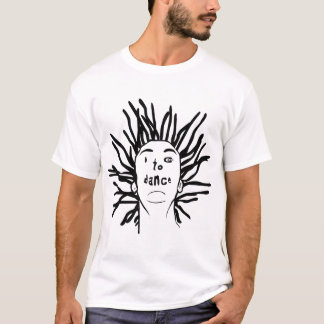 Camiseta Dreadlocks ICameToDance.com enfrenta o T branco