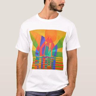 Camiseta Dreamboat - sucata do Cubist em cores preliminares