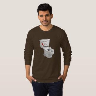 Camiseta Dreno longo da luva o pântano - bacia de toalete