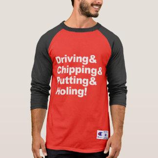 Camiseta Driving&Chipping&Putting&Holing (branco)