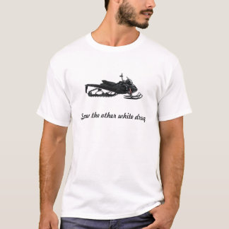 Camiseta Droga do branco do Snowmobile