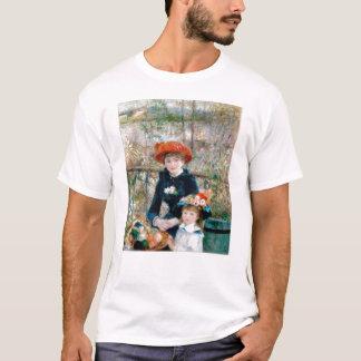 Camiseta Duas irmãs no terraço por Renoir. Cópia das belas
