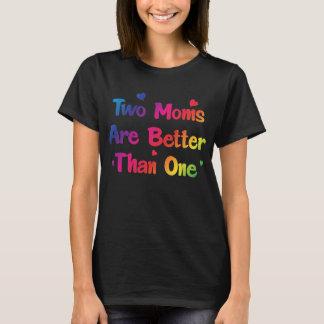 Camiseta Duas mães são melhores de um casal lésbica