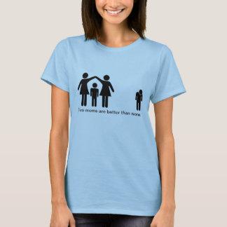 Camiseta Duas mães são melhores do que nenhuns
