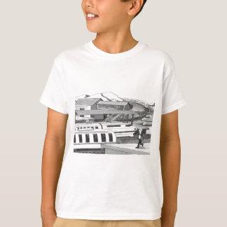 Camiseta Duas pessoas que tentam travar trens