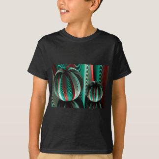 Camiseta Duas reflexões das bolas nas bolas de vidro