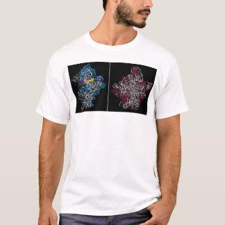 Camiseta duas subunidades ribosomal com trna e partes do