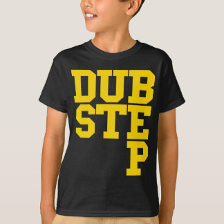 Camiseta Dubstep Blockletter (ouro)