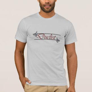 Camiseta Duelist vermelho da letra que cerca o t-shirt