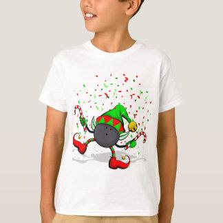 Camiseta Duende do Natal da boliche da dança