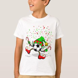 Camiseta Duende do Natal do futebol ou do futebol da dança