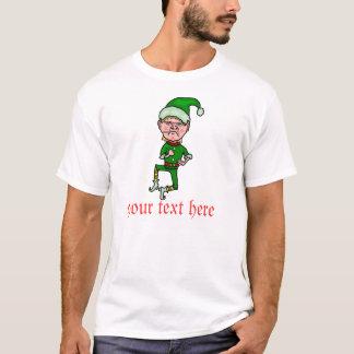 Camiseta Duende engraçado do Natal