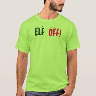 Camiseta Duende irritado do Natal, DUENDE FORA, t-shirt