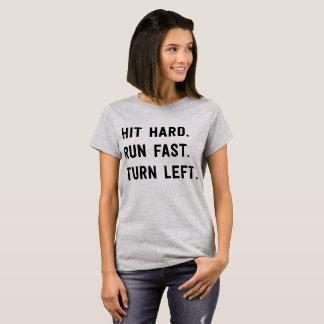 Camiseta Duro da batida. Funcione rapidamente. Gire à