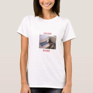 Camiseta Duro do estudo das preguiças