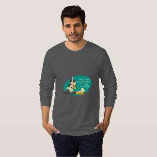 Camiseta Duro do trabalho para meu t-shirt do buldogue para