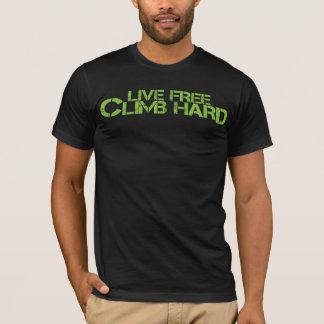 Camiseta Duro livre vivo da escalada - adjetivo verde