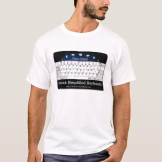 Camiseta Dvorak simplificou o teclado