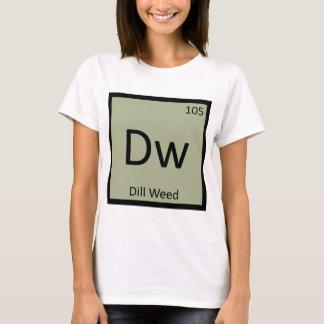 Camiseta Dw - símbolo da mesa periódica da química da erva