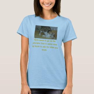Camiseta E2small, gatos parecem ir no princípio que…