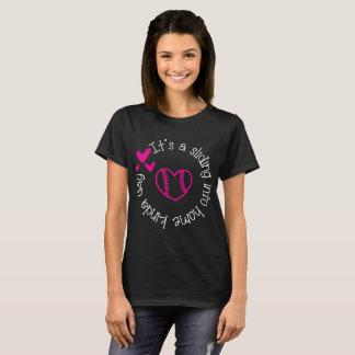 Camiseta É A que desliza no tipo Home de diz o softball