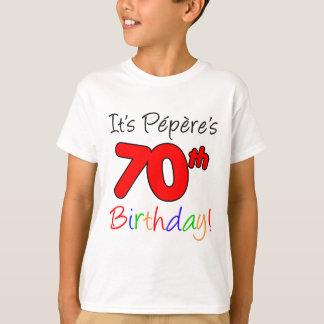 Camiseta É aniversário do 70 de Pepere
