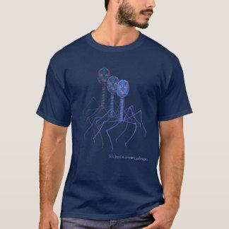 Camiseta É apenas um tshirt escuro de passagem do fago…
