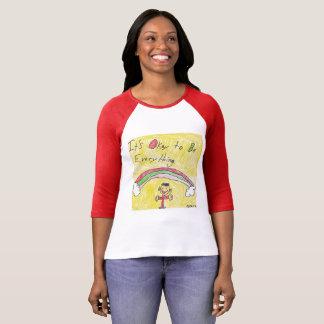 Camiseta É aprovado ser tudo t-shirt na luva longa