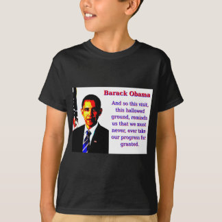 Camiseta E assim esta visita - Barack Obama